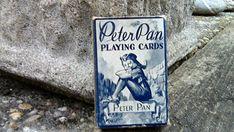 Rare Vintage Miniature Playing Cards Disneys Peter Pan Deck of