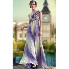A-Line Strapless Empire Floor-length Bowknot Evening Dress