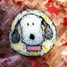 飾り巻き寿司スヌーピー前向き | KAORIさんのお料理