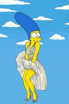 Marge as Marilyn Monroe | Marge Simpson Models The Most Iconic Fashion Poses Of All Time