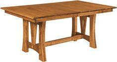 "Amish Outlet Store : 48"" x 72"" Sierra Table in Oak"