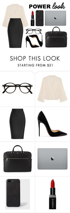 """Untitled #461"" by fashioncoolture ❤ liked on Polyvore featuring Alice + Olivia, Roland Mouret, Christian Louboutin, Serapian and Smashbox"