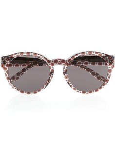 @Stella McCartney printed round-frame acetate sunglasses are the perfect summer accessory.