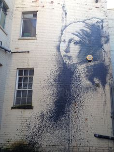 Banksy Bristol girl with a pearl earring