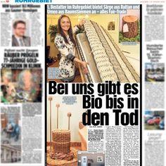 """""""Presse""""-Artikel aus der Bildzeitung Ruhrgebiet """"Bei uns gibt es Bio bis in den Tod"""""""