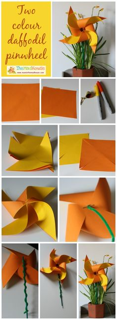 {How to} make a two colour daffodil pinwheel - Mum In The Madhouse- Mum In The Madhouse