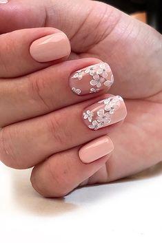 Semi-permanent varnish, false nails, patches: which manicure to choose? - My Nails Bride Nails, Wedding Nails, Wedding Bride, Wedding Makeup, Lace Wedding, Cute Nails, My Nails, Pinterest Nail Ideas, Beautiful Nail Polish