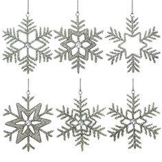 6er Set schneeflocken baumschmuck hängedeko weihnachten christbaumanhänger 15 cm ShalinIndia http://www.amazon.de/dp/B00LSNLF7K/ref=cm_sw_r_pi_dp_sCPOub1Q63WXP