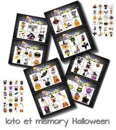 Jeu de loto d 39 halloween pour la maternelle imprimer bingo fran ais e - Pinterest francais bricolage ...