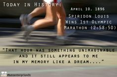 Today in History: Spiridon Lous, a 24 year old Greek Shepherd wearing shoes donated from fellow villagers, became a Hero when he won the Olympic 40,000m Race. 40 Years later, he spoke about the race's impact on his life. 118 years later, we are STILL talking about him. Here's to Dreams that echo throughout all time. Get your dreams, Sole Friends! Create an Echo.... #katoenterprisesllc