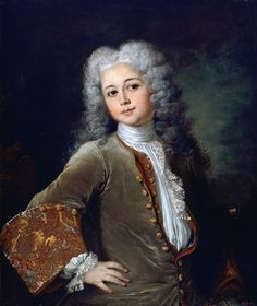 1700 Portrait of a Young Man with a Wig by Nicholas de Largilliere