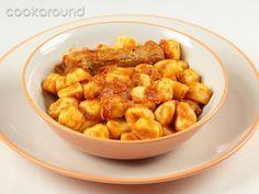 Gnocchi di patate con punte di maiale: Ricetta tipica Lazio.