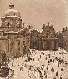 Richard Teschner (1879-1948) - Little square in winter (1905-1907)