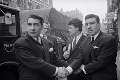 3 x The Krays Kray Twins Ronnie Reggie British Gangsters Old school gentlemen hard photo picture pri Real Gangster, Mafia Gangster, Uk History, London History, Old London, East London, The Krays, Hard Photo, Al Capone