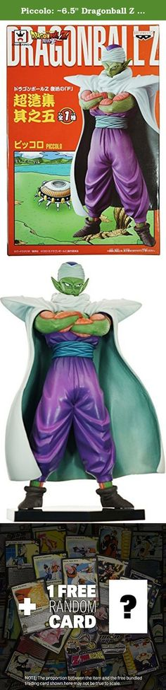 """Piccolo: ~6.5"""" Dragonball Z Resurrection 'F' Super Figure Collection + 1 FREE Official DragonBall Trading Card Bundle. This ~6.5"""" sculpture of Frieza is part of the DragonBall Z Super Figure Collection from Banpresto! Banpresto creates this series and aims to create a collection of product that is made of super quality figures. In addition, the sculptor of each figure in this series are all artists who have years of experience in creating DragonBall figures -- some of them have even…"""