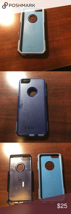 Otter box commuter I phone 6S plus! Dark and navy blue. Fits I phone 6/6s plus models only! Selling because I upgraded my phone! OtterBox Accessories Phone Cases