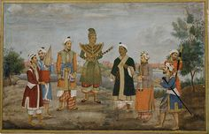 "Circle of Ghulam 'Ali Khan. Eight Men in Indian and Burmese Costume, 19th century. Islamic culture. The Metropolitan Museum of Art, New York. Gift of Dr. Julius Hoffman, 1909(09.227.1) | This work is exhibited in the ""Company School Painting in India(ca.1770-1850)"" exhibition, on view through September 16,2016."
