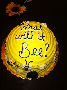 Gender Reveal What Will It Bee Cake Inside Frosting Reveals