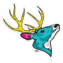 Venado, realizado en Illustrator para sticker © 2012