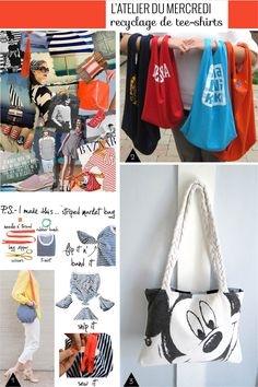 recyclage tee-shirts sacs diy