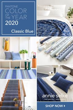 Annie Selke has you covered on all of your blue home décor needs! From rugs to bedding to art and everything in between. Paint Colors For Home, House Colors, My Living Room, Living Room Decor, Blue Rooms, Color Of The Year, Colorful Interiors, Family Room, Sweet Home