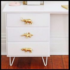 DIY Dresser Pulls From Dollar Store Toys
