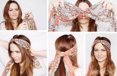 10 super-chic ways to wear a scarf in your hair – Hair Care Tips Ways To Wear A Scarf, How To Wear Scarves, Wearing Scarves, Hair Scarf Styles, Short Hair Styles, Hair Scarf Tutorial, Tie A Turban, Hair Accessories For Women, Summer Hairstyles