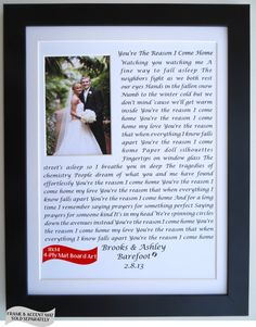 anniversary gift ideas for him her husband wife, wedding vows song lyrics personalized Wedding Vows, Our Wedding, Wedding Gifts, Dream Wedding, Husband Anniversary, Anniversary Gifts For Him, Anniversary Ideas, Cute Gifts, Diy Gifts
