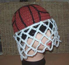 Cats-Rockin-Crochet Fibre Artist.: It's A Goal, Crochet Net Ball Hat