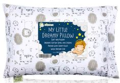 Toddler Pillow with Pillowcase - Soft Organic Cotton Baby Pillows For Sleeping - Washable & Hypoallergenic - Toddlers Kids Infant - Perfect For Travel Toddler Cot Bed Set (Kea Safari) Toddler Cot, Toddler Pillowcase, Small Pillows, Baby Pillows, Kids Pillows, Cot Bedding, Bedding Sets, Home Design, Best Pillow