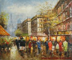 Pictures of Parisian View-Oil Paintings on Canvas
