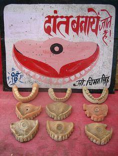 Roll Up for Your Dentures!    Near Hawa Mahal, Jaipur. Photo: Meena Kadri