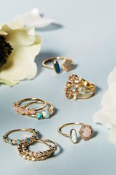 Rosaline Ring Set. Add a touch of sparkle to your outfit. https://plus.google.com/108156896244404196421/posts/hc224tN6zQQ