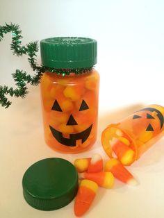 Pill Bottle Pumpkins