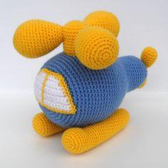Купить Вертолет Игрушка вязаная - голубой, желтый, белый, вертолет, техника, вязаная игрушка, авиация Crochet Car, Crochet For Boys, Love Crochet, Crochet Dolls, Amigurumi Patterns, Easy Crochet Patterns, Knitted Animals, Crochet Accessories, Fabric Dolls