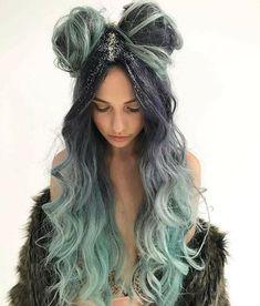 Looking for hair inspiration, color ideas such as mermaid hair, rainbow hair color, pastel hair color ideas you cant help but love how cute Hair Dye Colors, Cool Hair Color, Hair Colour, Aesthetic Hair, Grunge Hair, Rainbow Hair, Pretty Hairstyles, Hairstyle Ideas, Mermaid Hairstyles