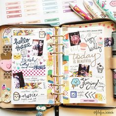 filofax_kikkik: Good morning planner world! This week's journaling inside my #katespadewellesley planner
