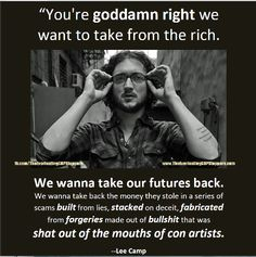Spoken with passion by LEE CAMP and The Everlasting GOP Stoppers...