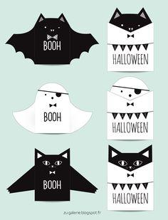 cute #DIY Halloween cards, via Zü
