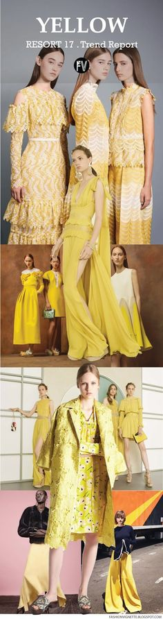 [ TREND REPORT ] YELLOW . RESORT 2017 (FASHION VIGNETTE)