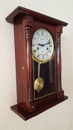Vintage / Antique Kassle 31-day chiming wall clock / professionally restored…
