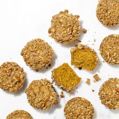 Grinding half of the walnuts into the streusel makes for extra tender, buttery pumpkin muffin tops.