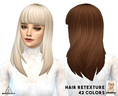 EA long Straight Bangs Hair retexture (updated!) at Miss Paraply via Sims 4 Updates