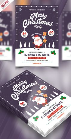 Christmas Party Flyer Template PSD is suitable for any kind of club, bar, lounge, festival, party, concert, event or other advertising purposes.