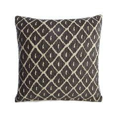 Charcoal Chenille Ikat Cushion   Home   George