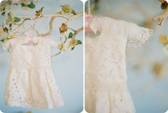 baby dress made from vintage napkins.