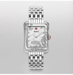 Extreme Butterfly Diamond Stainless Steel Bracelet  The extreme butterfly features over one hundred hand-set diamonds. The polished, stainless steel case is accented by sparkling diamonds and the signature Michele crown. The stainless steel bracelet is easily interchangeable with any 18mm Michele strap.