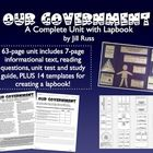 Government Unit & Lapbook! A complete unit for teaching about the United States government. 7-page complex text with information, plus lapbook patterns.