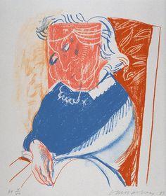 'Portrait of Mother II', David Hockney | Tate