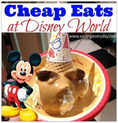Cheap Eats At Walt Disney World! #disney #disneyfood http://www.savingeveryday.net/2014/07/cheap-eats-walt-disney-world/